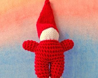 Rainbow Gnomes Knit gnome doll Gnome doll Waldorf Inspired Hand Knit Gnome Wool Gnome Waldorf toy Knit doll gnome Soft gnome Baby gnome doll