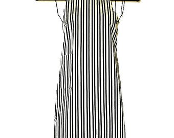 Ladies Apron Stripes and Flowers  Reversible Baking Cooking Entertaining