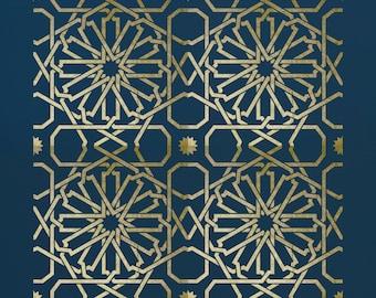 Moroccan Tile  Stencil for Walls & Furniture  ST27R