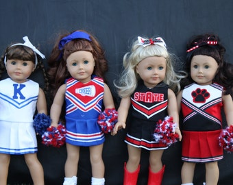 Oh Mickey Cheerleading Uniform for DOLLY PDF Sewing Pattern Sized for 15 and 18 inch dolls