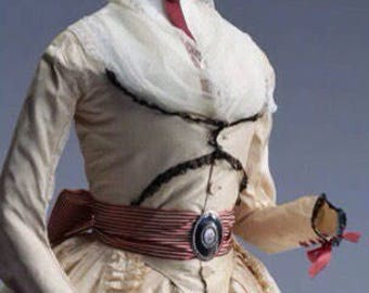 Georgian 18th century gown, zone front gown & petticoat, pure silk. Museum replica 1780s gown.  Made to measure