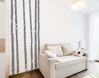 Birch Trees Wall Decals Birch Forest Wall Decal Woodlands