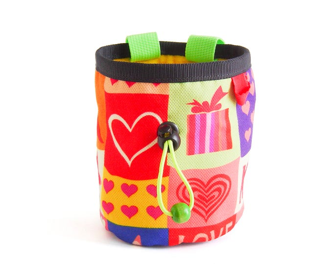 Gift for Climbers. Chalk bag. Rock Climbing Gifts, Climbing Chalk Bag - M Size. Funky and Cool Chalkbag for Girl and Boyfriend