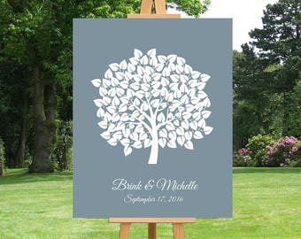 Wedding Guestbook | Wedding Tree Guest Book | Personalized Wedding Guest Book Alternative | Anniversary Gift | Wedding Gift - 60677