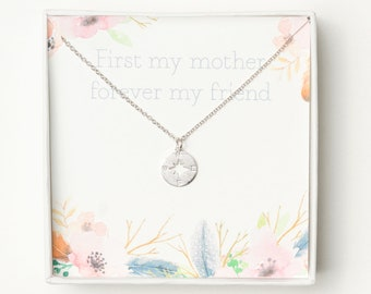 Mother Necklace | Mom Necklace | Gift For Mom | Mothers Day Gift | Mother Daughter Gift / Compass Necklace