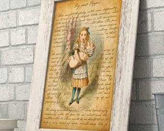 Alice in Wonderland - Pig and Pepper - 11x14 Unframed Alice in Wonderland Print