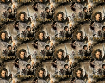 Lord of The Rings Fabric Return of The King Camelot Cotton BTY