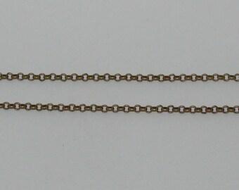 size 50cm rollo chain 4mm antique bronze - Ref: CB 139