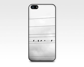 birds iphone case 5s  black and white iphone 6 case birds on a wire fine art iphone 4 case iphone 4 4s case iphone 5 case iphone 5s case