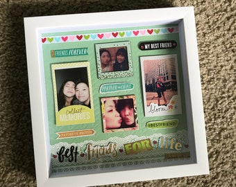 Custom-handmade Scrap frame/shadow box/