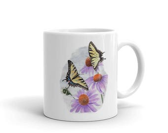Eastern Tiger Swallowtail Butterfly Mug made in the USA