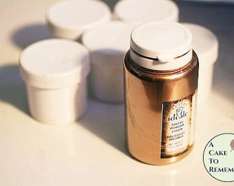 10 grams white sample container Gold luster dust- decorative use only--High gloss gold powder for gumpaste and cake decorating