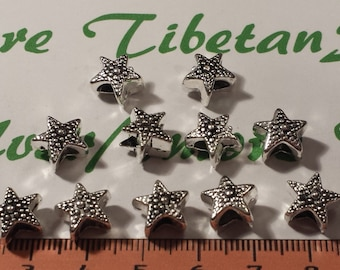 10 pcs per pack 11x7mm Starfish 5mm Large Hole Beads Antique Silver Lead Free Pewter