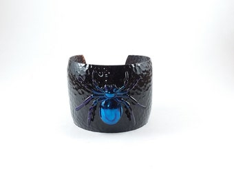 Hand Painted Copper Spider Cuff