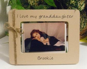 Granddaughter frame,  Keepsake gift, Grandma Gift,  Granddaughter gift, Mother's day gift, Gift for Grandma, Grandma Keepsake, Grandma