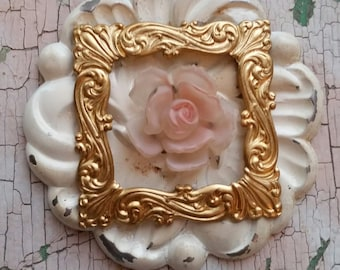 Vintage Rose Necklace (Handmade, OOAK, necklace, found object jewelry)