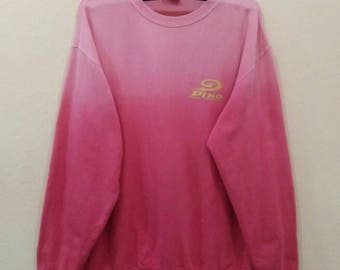 PIKO Sweatshirt jumper pullover spellout 2tone colour large size
