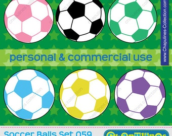 60% off Soccer ball clipart, commercial use, soccer scrapbooking, soccer ball graphics, football soccer ball PNG set 059