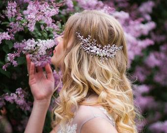 Wedding headband. Crystal Headpiece. Wedding hair vine. Pearl Hair Headpiece. Pearl Hair Vine. Crystal Hair vine. Bridal hair vine