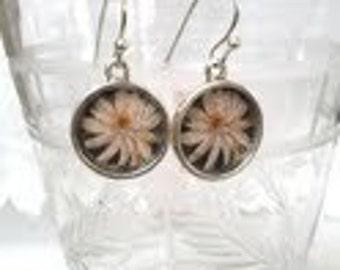 Delicate Lotus Blossom Earrings. Lovingly handmade in Brooklyn by Wishing Well Studio.