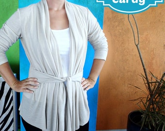 Cuddle Me Cardy  - PDF Sewing  pattern