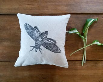 free shipping / gray moth pillow / butterfly / spring / summer/ home decor/ nature/ insect/