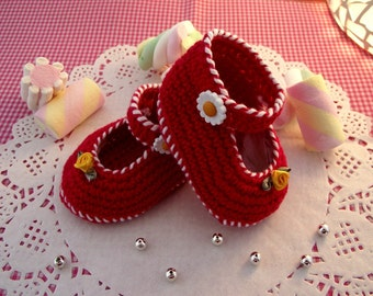 CROCHET BABY Shoes PATTERN Little Lilly baby shoes Pattern Baby crochet ballerinas pdf pattern Instant Download Ugg patterns for babies