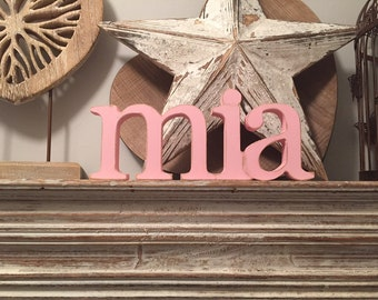 Personalised Wooden Name Sign - Free-standing - price per letter - Georgian - various colours & finishes