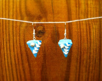 Delicious Blueberry  Cake Earrings