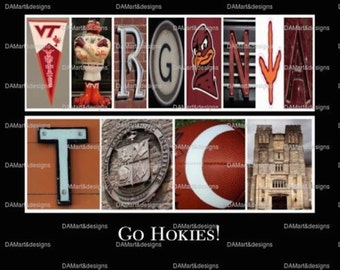 Virginia Tech Hokies  Alphabet Photo Art