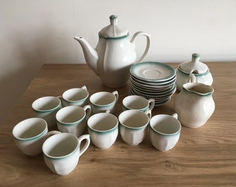 Vintage Vitramik 1980s Coffee Set. 24 Piece Set. Made in Brazil