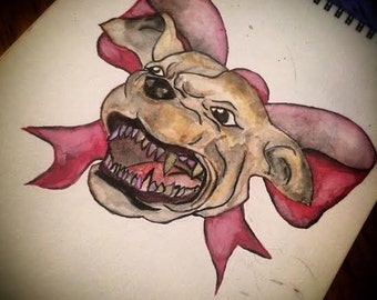 SAVE THE PITS Watercolor