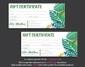 Chloe and Isabel Gift Certificate, Custom Chloe and Isabel Gift Cards, Fast Free Personalization, Digital File CLCL05