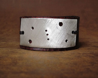 Orion Constellation Leather Cuff