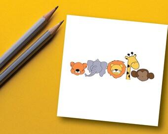 Kids Jungle Animal Print