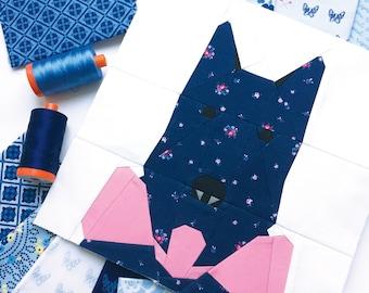 "Scotty Dog #25 Block PDF Paper Piecing Pattern 10"" x 10"" finished"