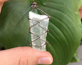 Selenite Moon Goddes Necklace