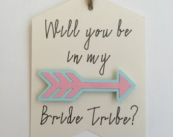Will You Be My Bridesmaid   Will You Be In My Bride Tribe   Boho Bridal Shower Favor Tag   Bride Tribe Favor Tags   Bridal Shower Gift Tags