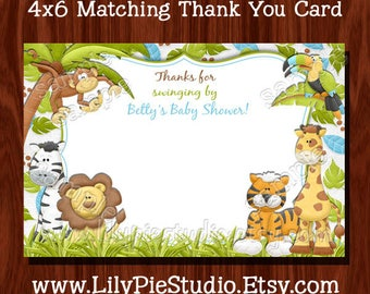 Jungle themed Thank You Card (Digital File)