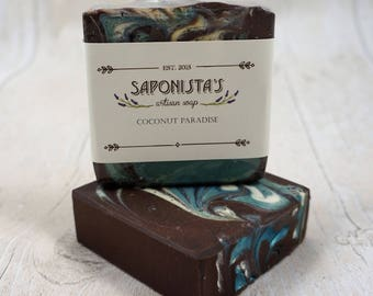 Coconut Paradise Scented Cold Process Soap Bar