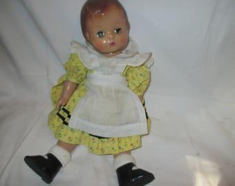 Vintage EFFANBEE Doll PATSY JOAN YELLOw DRess 1994