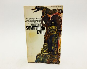 Vintage Gothic Romance Book Something Evil by Arthur Hoffe 1968 Paperback