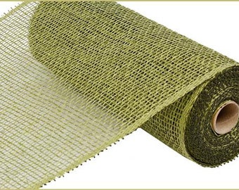 10 Inch Olive Green Poly Burlap Mesh RP810089, Deco Mesh Supplies