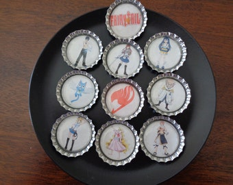Fairy Tail Bottlecap Magnets!