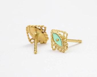 Boho Earrings, Gold Earrings, Gold Stud Earrings, Gold Studs, Bohemian Earrings, Gold Post Earrings, Boho Stud Earings, Boho gold Earrings