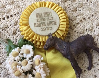 Wall Street 1937 Yellow Horse Show Ribbon What A Bright Delight