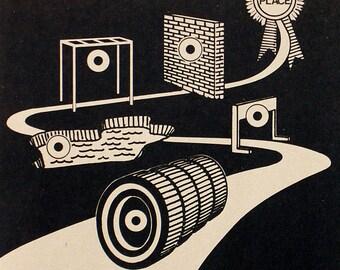 Papier Vintage cible Obstacle Course jeu de tir