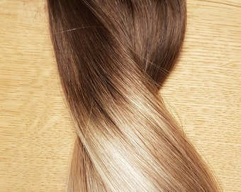 Balayage clip in hairextensions brown to blonde (#3/8/22)