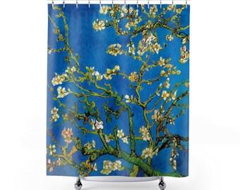 Vincent Van Gogh  Blossoming Almond Tree Fine Art Shower Curtain