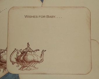 Baby Wish Cards, Qty 30, Tea Party Baby Shower, Wishes for Baby Tea Party, Baby  Wish Cards